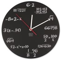Math Teacher Thank You Gift: Mathmatical Equation Pop Quiz Clock. Solve the equation to figure out the time