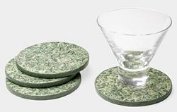 Thank You Teacher Gift: coasters made from recycled dollar bills