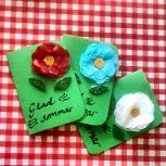 Homemade cards as teacher thank you gifts. Photo: flickr.com/photos/kajsascrap/
