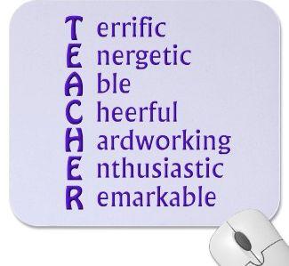 Teacher Thank You Gift: Teacher Acronym Mousepad