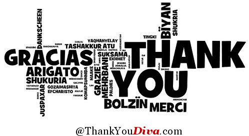 A thank you note in lots of different languages. Photo: flickr.com/photos/wwworks/